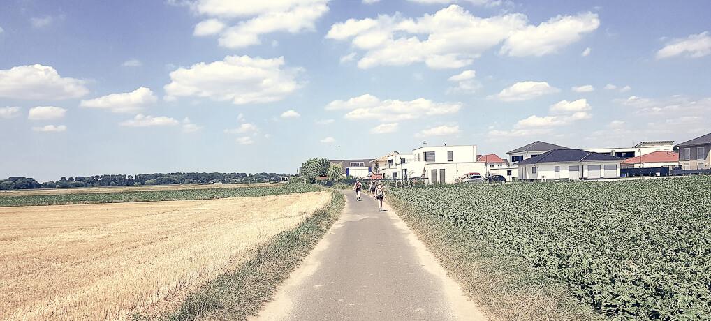 Entlang des Rheinufers und durch die Felder von Wahn nach Zündorf: KÖLNPFAD, Etappe 10